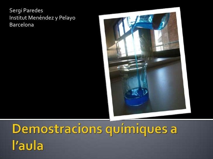 Demostracions químiques a l'aula