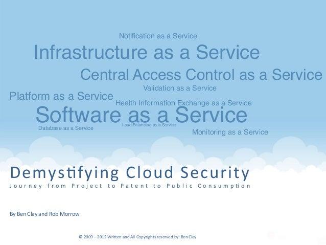 Demys&fying  Cloud  Security   J o u r n e y    f r o m    P r o j e c t    t o    P a t e n t    t o   ...
