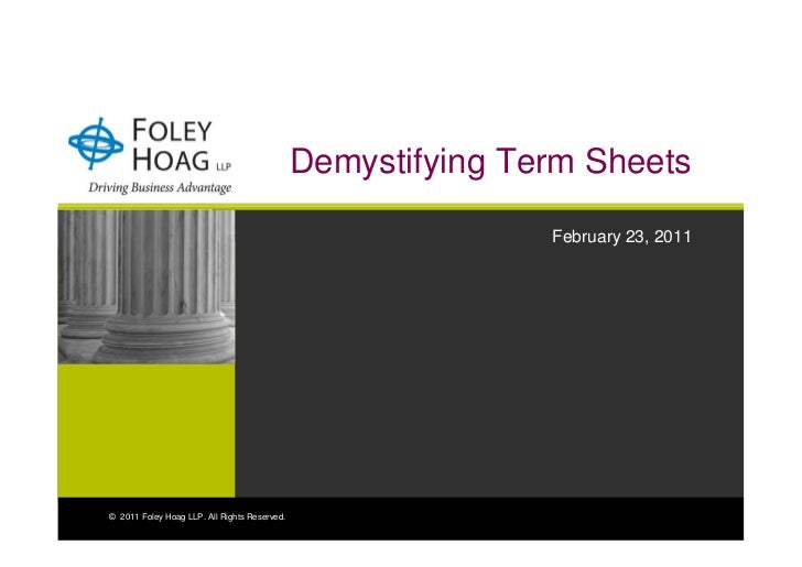 Demystifying Term Sheets