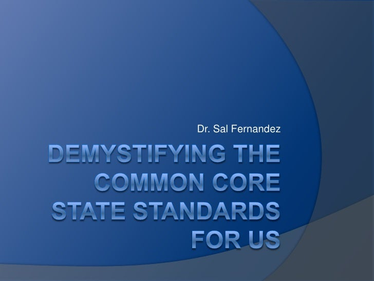 Demystifying the common_core_state_standards