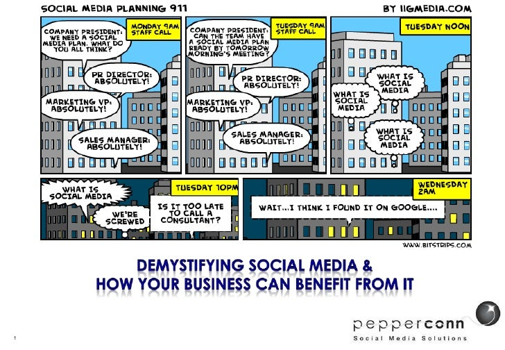 Demystifying Social Media &How Your Business can Benefit from it <br />1<br />