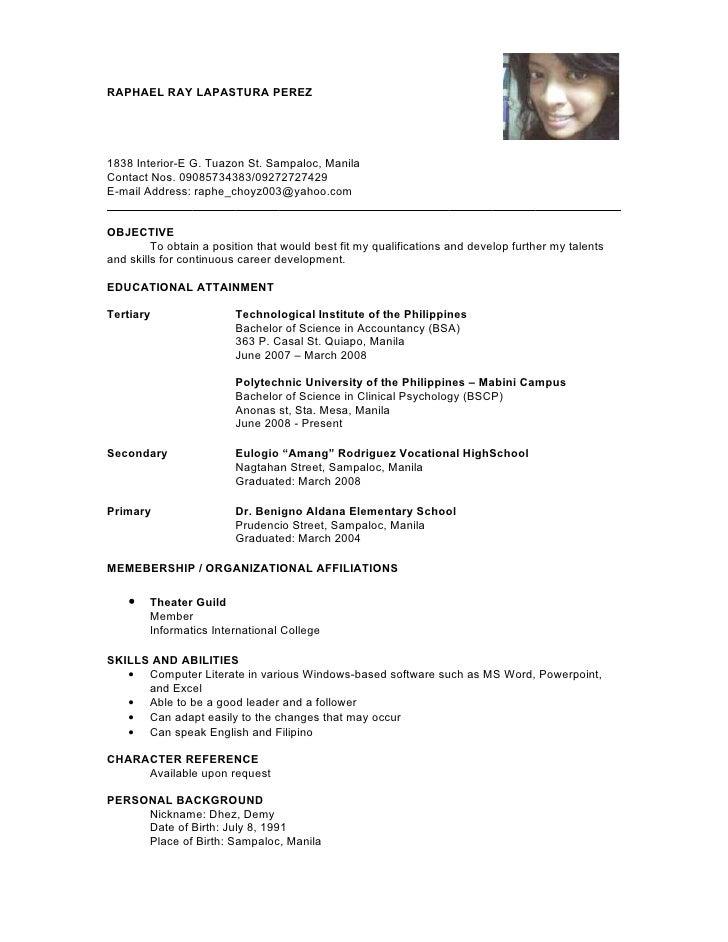 resume. insight to a responsive e resume. simple resume example e ...