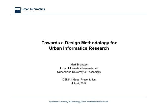 Towards a Design Methodology for Urban Informatics Research