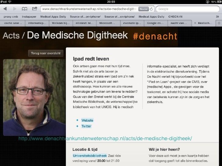 #denachthttp://www.denachtvankunstenwetenschap.nl/acts/de-medische-digitheek/