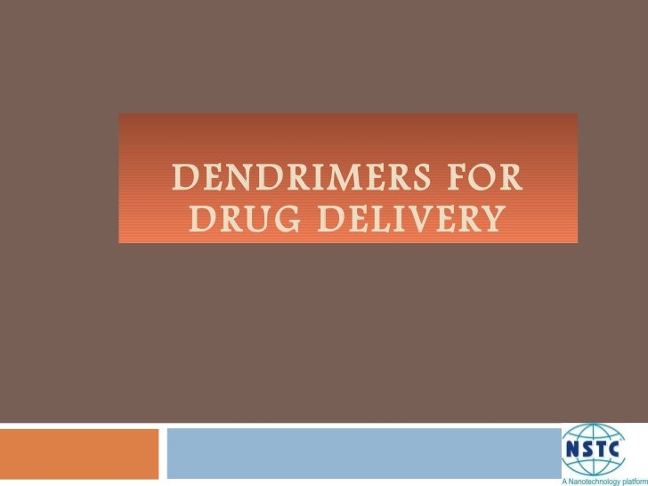Dendrimers for drug delivery p1