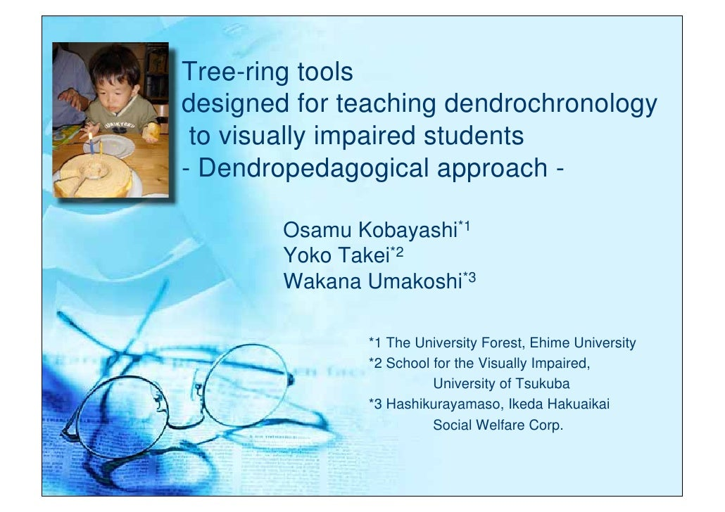 Tree-ring tools designed for teaching dendrochronology  to visually impaired students - Dendropedagogical approach -      ...