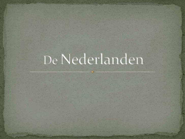 De Nederlanden ppt