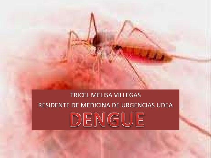 TRICEL MELISA VILLEGAS RESIDENTE DE MEDICINA DE URGENCIAS UDEA
