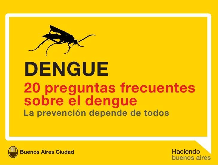 Preguntas frecuentes sobre el dengue