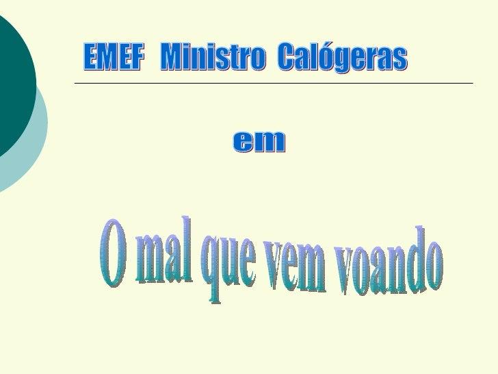 EMEF  Ministro  Calógeras em O mal que vem voando