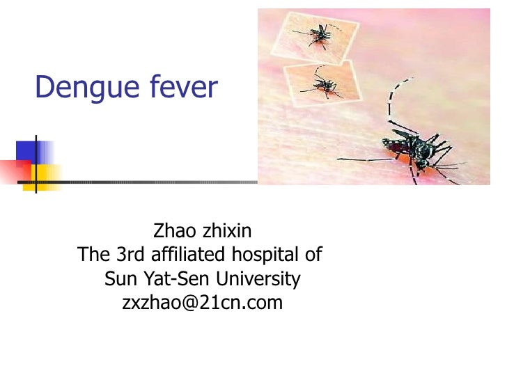 Dengue fever Zhao zhixin The 3rd affiliated hospital of  Sun Yat-Sen University [email_address]