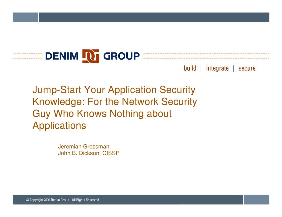 Jump Start Your Application Security Knowledge