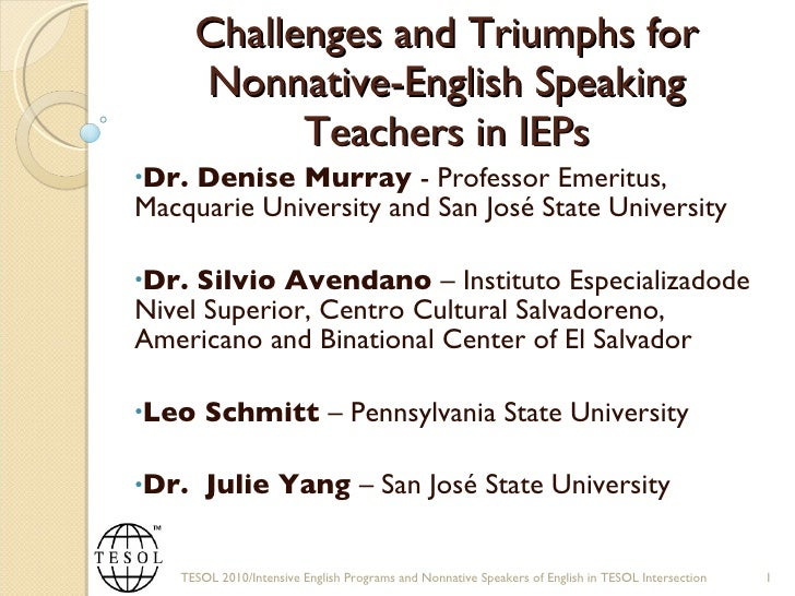 Challenges and Truimphs of Nonnative English Speakers in IEPs - Part 1