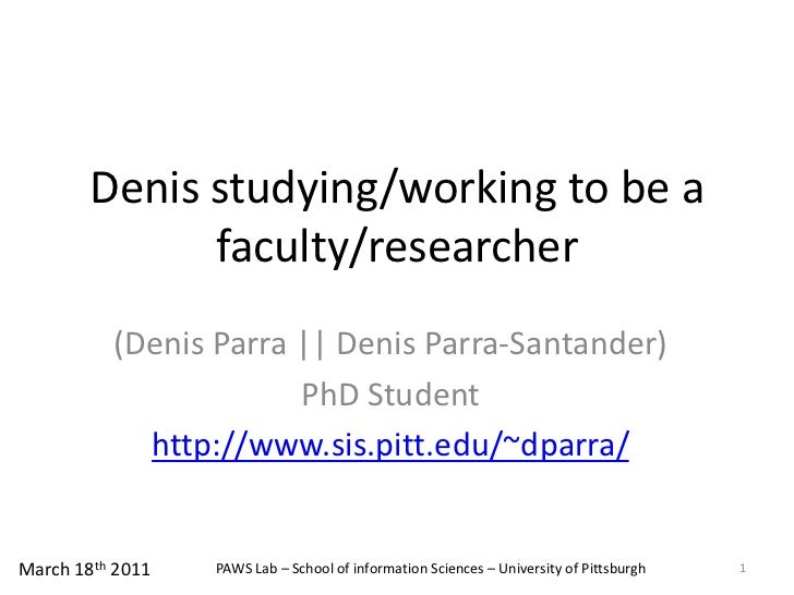 Currents steps to be a researcher and faculty