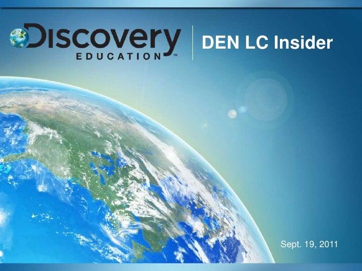 DEN LC Insider        Sept. 19, 2011