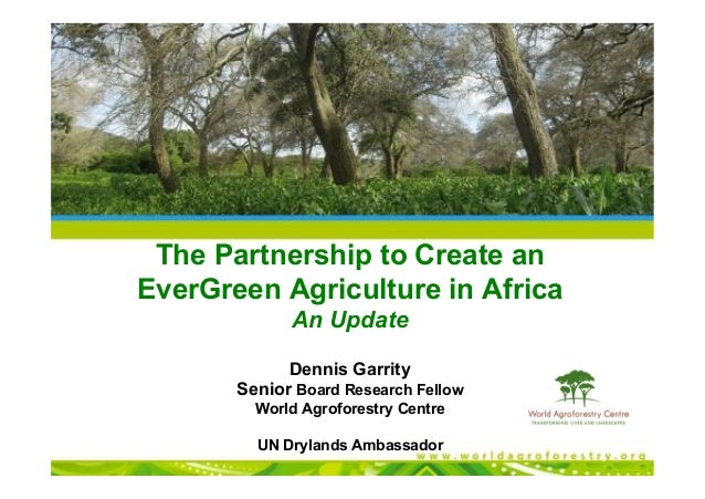 The Partnership to Create an EverGreen Agriculture in Africa An Update Dennis Garrity Senior Board Research Fellow World A...