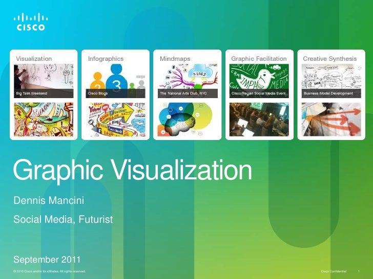 Graphic VisualizationDennis ManciniSocial Media, FuturistSeptember 2011© 2010 Cisco and/or its affiliates. All rights rese...