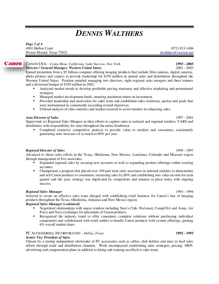 Vp Of Sales And Marketing Resume