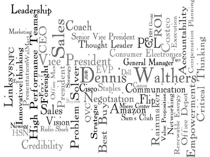 Dennis Walthers Word Cloud
