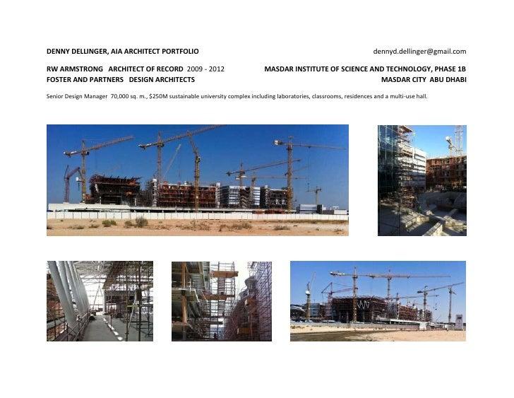 DENNY DELLINGER, AIA ARCHITECT PORTFOLIO                                                                                 d...