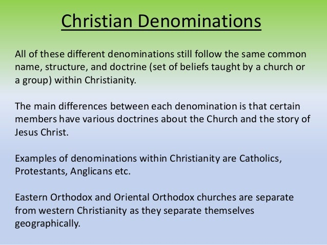Denomination Mean