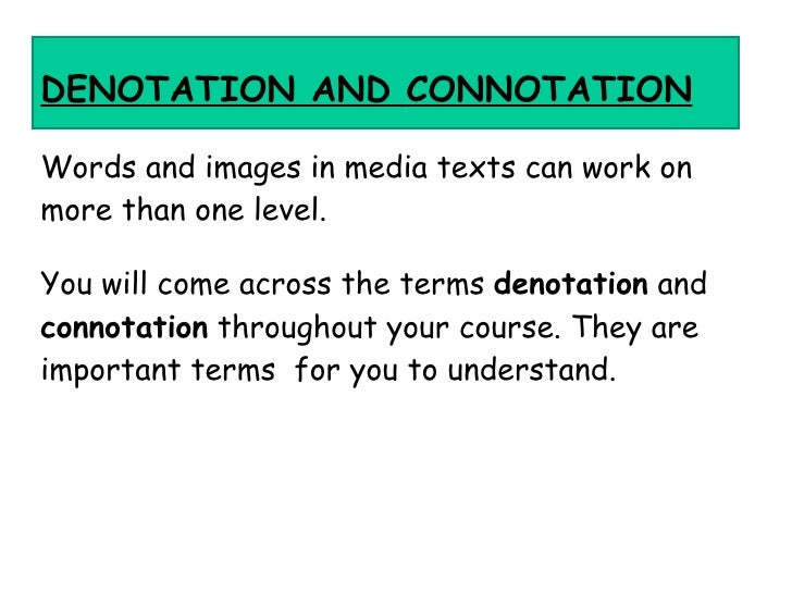 01 04 denotations and connotations