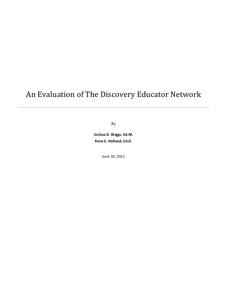 An Evaluation of The Discovery Educator Network                                                   ...