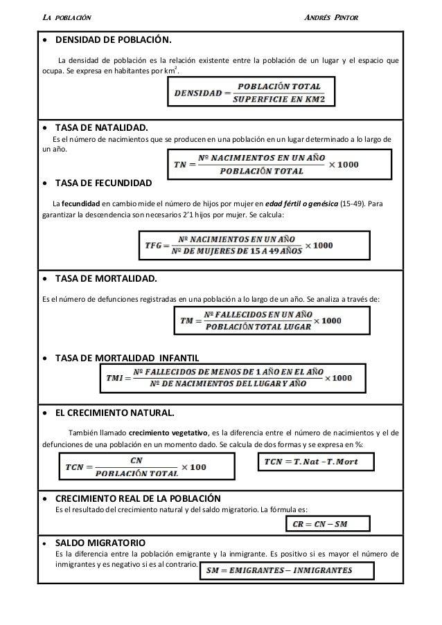 La población                                                                    Andrés Pintor   DENSIDAD DE POBLACIÓN.   ...