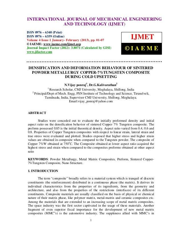 Densification and deformation behaviour of sintered powder metallurgy