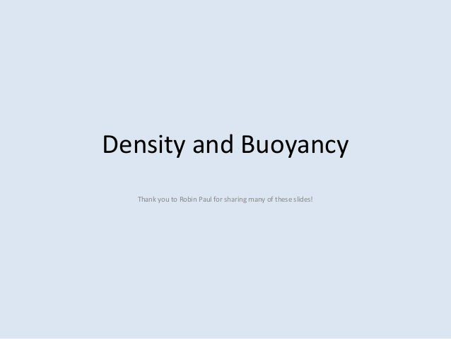 buoyancy and density relationship