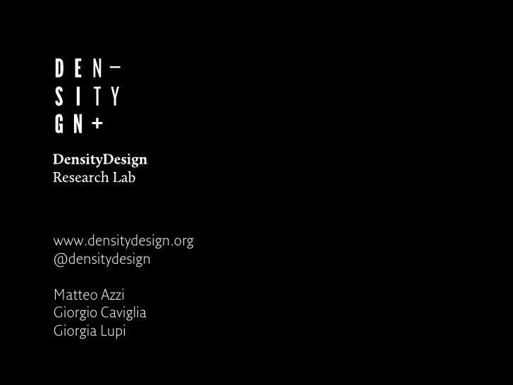 www.densitydesign.org@densitydesignMatteo AzziGiorgio CavigliaGiorgia Lupi