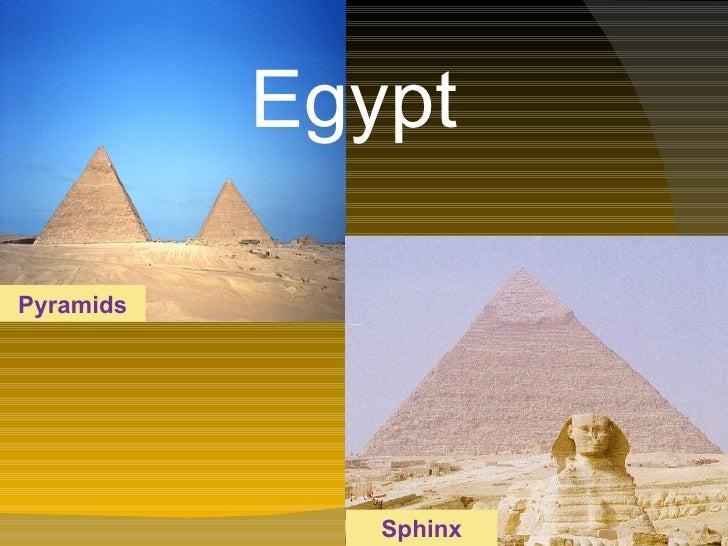 Egypt   Sphinx Pyramids