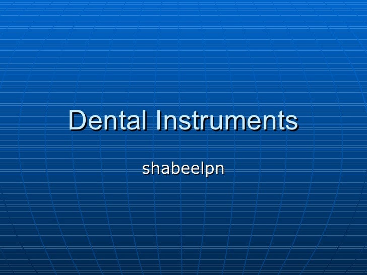 Dental Instruments shabeelpn