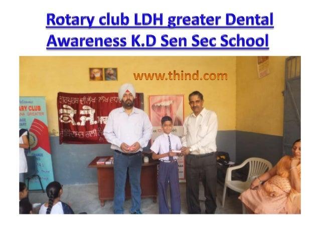 Dental Awareness seminar at K.J Sen Sec School