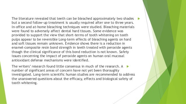 Literature review teeth whitening