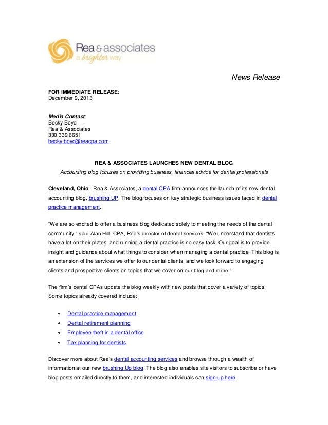 Rea Associates Launches New Dental Blog