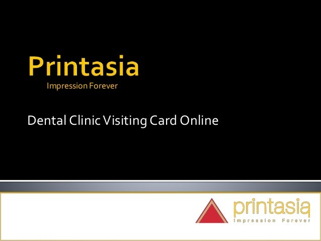 Impression Forever Dental ClinicVisiting Card Online