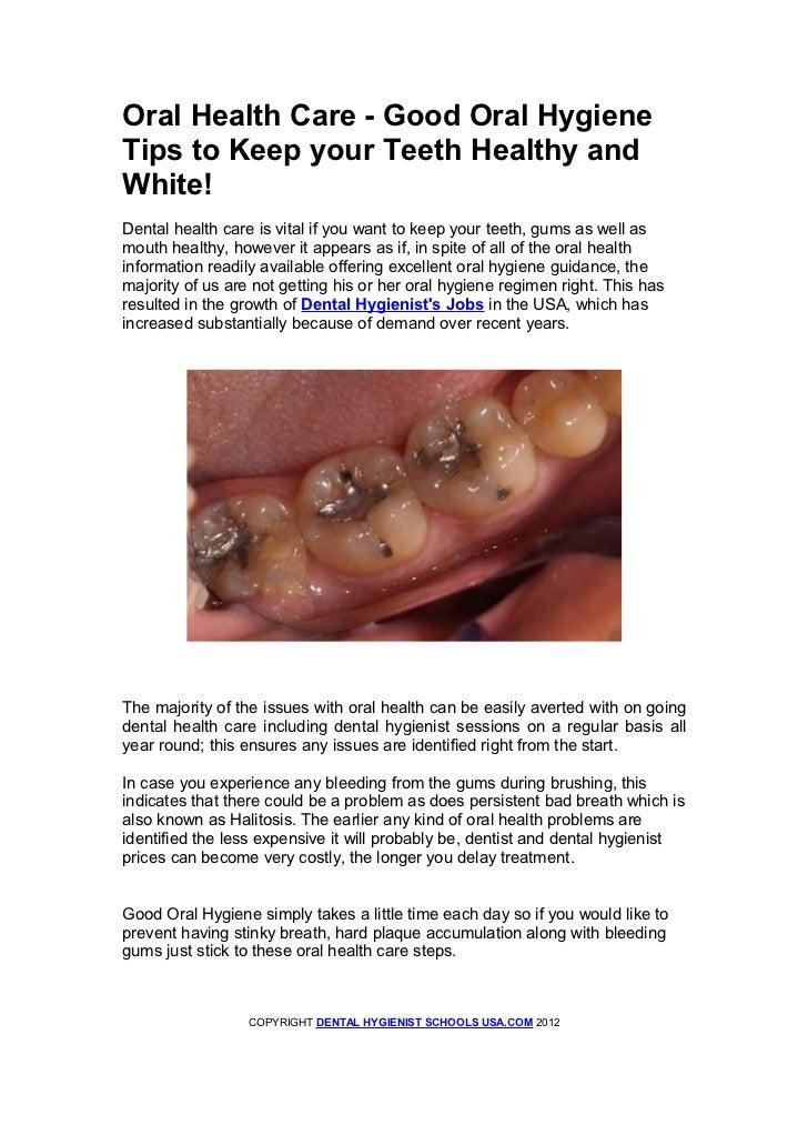 Dental hygienist schools oral health care