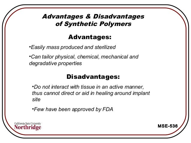 advantages and disadvantages of polymers pdf
