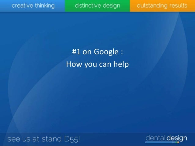 #1 on Google : How you can help