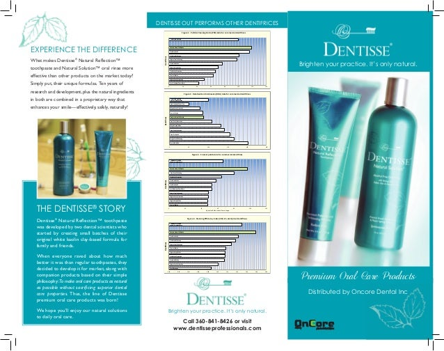 EXPERIENCE THE DIFFERENCE What makes Dentisse® Natural Reflection™ toothpaste and Natural Solution™ oral rinse more effect...