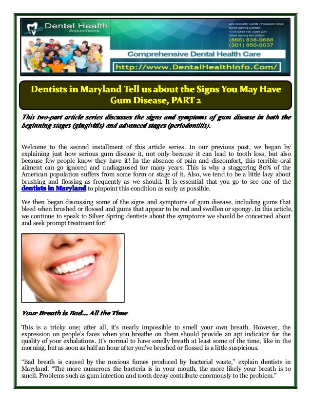 DentistsDentistsDentistsDentists inininin MarylandMarylandMarylandMaryland TellTellTellTell usususus aboutaboutaboutabout ...