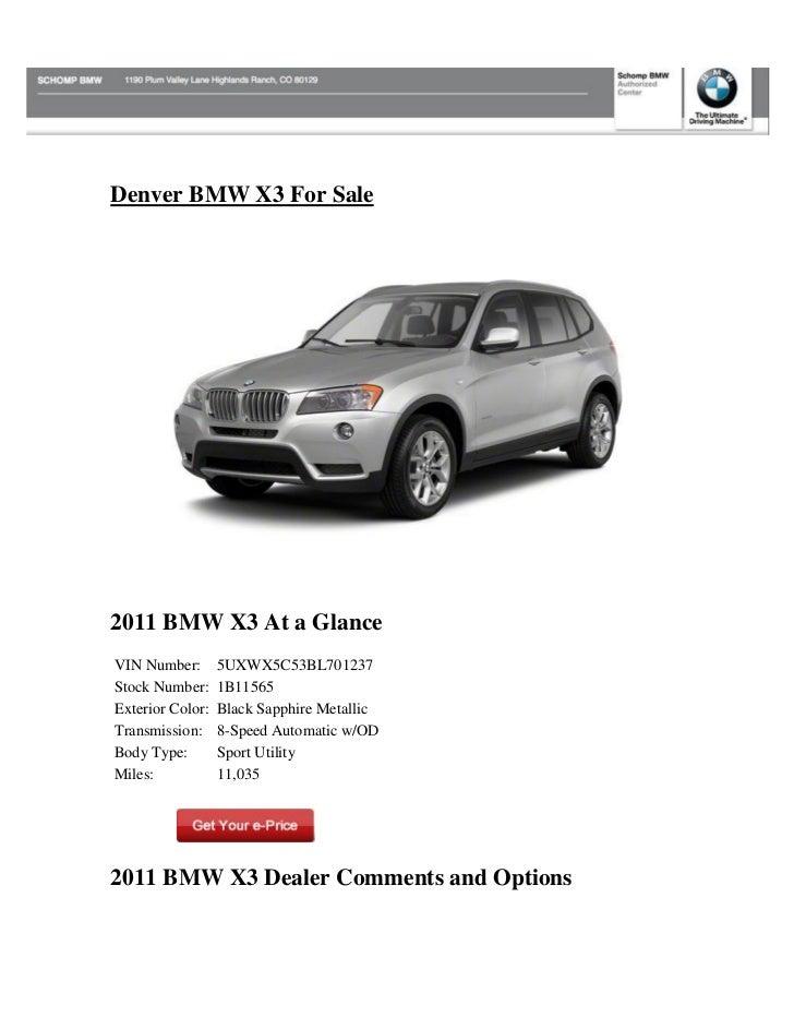 Denver BMW X3 for sale
