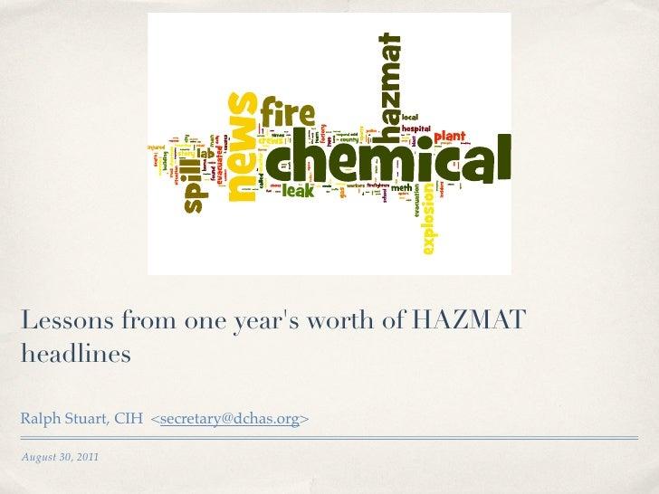 1 Year of Hazmat Headlines