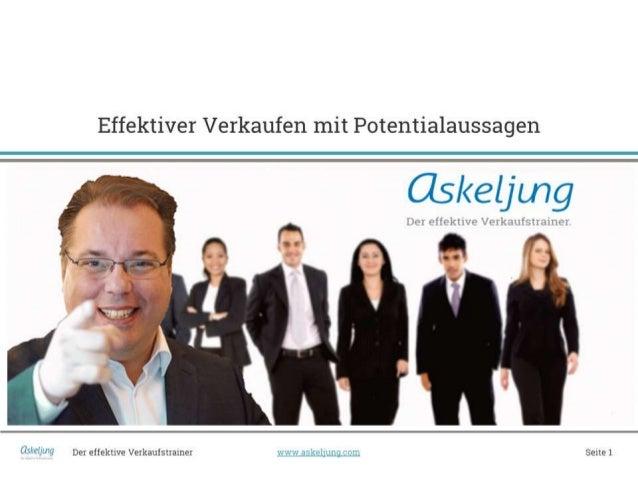 Effektiver Verkaufen mit Potentialaussagen