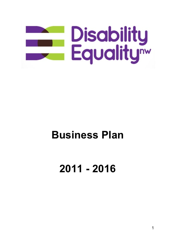 Disability Equality NW buisness plan (Dec 11)