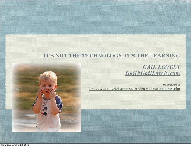 Gail Lovely - DEN webinar10.23.10