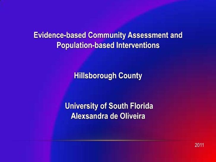 Community Based Intervention