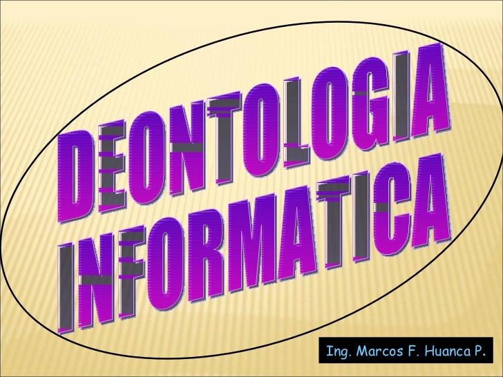 DEONTOLOGIA INFORMATICA