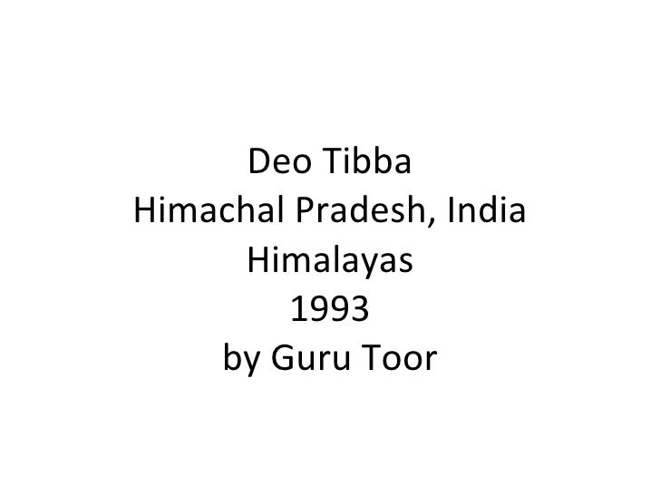 Deo Tibba 1